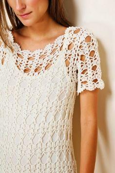 Seja para saída de praia, ou como um vestido esta trama simples trouxe um efeito lindo ao vestido!                                ...