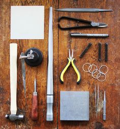Awesome photo of silversmith tools