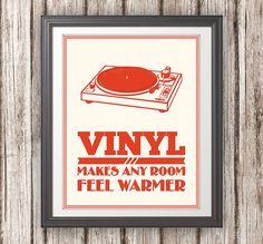 Record Player Print Vinyl Makes Any Room Feel