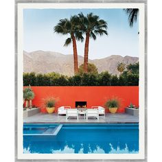 Having a pool sounds awesome especially if you are working with the best backyard pool landscaping ideas there is. How you design a proper backyard with a pool matters. Desert Landscaping Backyard, Backyard Pools, Landscaping Ideas, Murs Oranges, Pool House Interiors, Modern Backyard Design, Modern Design, Moderne Pools, Palm Springs California