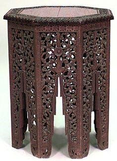 Античный Азиатский Бирманский стиль (19 / 20th Cent), вырезанные из дуба филигрань