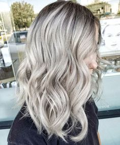 Dimensional Beige/Ash Blonde. Do you guys want to see more natural colors and formulas? I used all @schwarzkopfusa for this look. Lighten with #Blondme 30 vol. with @brazilianbondbuilder #b3 added. BASE: 4-13,5-12, 0-22 Beige: 9.5-49,9-0, 0-11 Ash: 9.5-1, 9-1, 2g E-1, 2g 0-22 all with 7vol. and #b3 added! HAVE FUN! #BESCENE