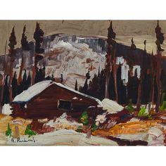 Rene Richard - La Meille Cabane 12 x 16 Oil on masonite Canadian Painters, Oil, Painting, Painting Art, Paintings, Paint, Draw