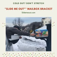 Improve your mailbox with Slide Me Out mailbox bracket. Stop stretching for your mail. Great Mailbox accessory to enhance decor of your mailbox. Dress up your mailbox. Mailbox Garden, Mailbox Accessories, Plastic Board, New Inventions, Improve Yourself, Stretching, Farmhouse Decor, Rust, Cold