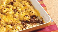 Try a sassy, biscuit-topped casserole thats a snap to put together with just four ingredients plus your favorite taco toppings.