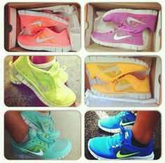 LOVIN these neon Nike tennis shoes!!!! <3