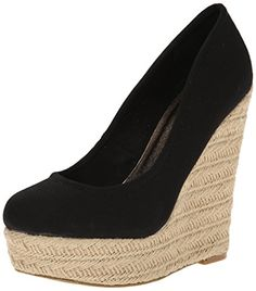 Madden Girl Women's Thicke Wedge Pump, Black Canvas, 7.5 M US Madden Girl http://www.amazon.com/dp/B00QAC6T4S/ref=cm_sw_r_pi_dp_ApTEvb0MEAFXW