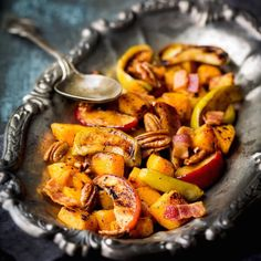 Roasted Butternut Squash + Apples, Bacon + Pecans