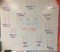 Classroom whiteboard - Looking to spice up your whiteboard fun Here's an idea for tomorrow! Classroom Whiteboard, Classroom Board, Future Classroom, School Classroom, Classroom Activities, Classroom Organization, Classroom Management, Whiteboard Games, Classroom Ideas