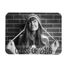 Whimsical Overlay 2016 Graduation Rectangular Photo Magnet more great graduation gift ideas at www.mouseandmarker.com