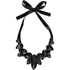 Boohoo Kia Ribbon Tie Statement Necklace ($8) ❤ liked on Polyvore featuring jewelry, necklaces, accessories, black, colar, bib statement necklace, ribbon necklace, layered necklace, pandora bracelet and pendants & necklaces