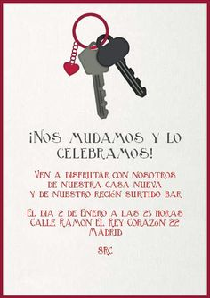 Llaves Nuevas-Celebra con estilo con las invitaciones y tarjetas virtuales de LaBelleCarte: www.LaBelleCarte.com
