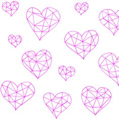 Geometric hearts candyfloss by smuk, click to purchase fabric