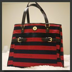 Tommy Hilfiger red and blue striped tote FREE GIFT New, never used. Free gift- second tote bag. Tommy Hilfiger Bags