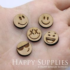 Jewelry Making Tutorials Emoji Charms For Jewelry Making Supplies - High Quality DIY Laser Cut Wooden Charm Pendant Jewelry Cheap Jewelry, I Love Jewelry, Sea Glass Jewelry, Wooden Jewelry, Jewelry Shop, Handmade Jewelry, Inexpensive Jewelry, Fashion Jewelry, Pendant Jewelry