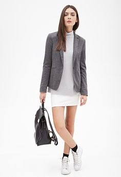 Single-Button Blazer | Forever 21 - 2000120127 Shell: 73% polyester, 24% rayon, 3% spandex; lining: 100% polyester
