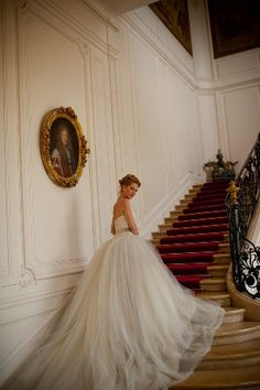 French Chateau bride in a Marie Antoinette bridal shoot Exquisite #wedding #dress in an exquisite location