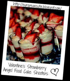 Valentine's Strawberry Angel Food Cake Shooters on MyRecipeMagic.com
