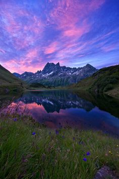 Sunrise at the Alps by  Johannes Netzer