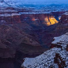 Photo and caption by @pedromcbrde // Have a Healthy, Happy Holiday season — and lots of frosted layered cake too. I captured this image last year while walking the length of the Grand Canyon. The unexpected foot of snow made for one of the most beautiful settings I have ever seen, but also the most frightful. Climbing with frozen feet in a frozen vertical world can get tricky. #grandcanyon #happyholidays #winter #chasingrivers