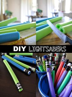 Honey We're Home: Star Wars Birthday Party & DIY Lightsabers