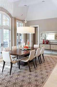 'Old Oakville' - custom home designed by David Small Designs www.davidsmalldesigns.com #dining room