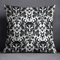 Black and White Damask Skull Comforter Sets