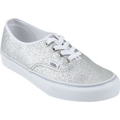 Sparkley Vans. I actually have these and I love them! They go with everything! They also reflect light so you can walk with them at night.