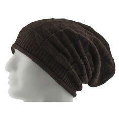 5b52d89e04e Long Beanie Mütze XXL Damen Herren Kinder Winter Mützen - brown