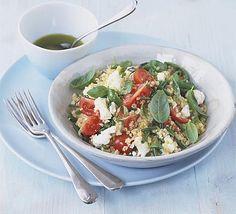 Bulgur wheat, feta & herb salad recipe - Recipes - BBC Good Food