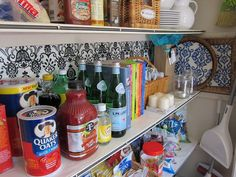 Transformed coat closet into a pantry