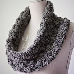 Download the Cocoon Snood Pattern and knit a snood that can be worn in numerous different ways!