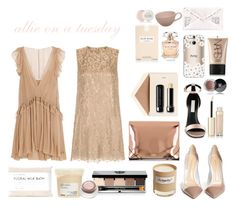 """""""Allie on a Tuesday"""" by anhattan ❤ liked on Polyvore featuring Chloé, Dolce&Gabbana, Gianvito Rossi, MM6 Maison Margiela, Dempsey & Carroll, Olfactive Studio, STELLA McCARTNEY, Elie Saab, KEEP ME and Davines"""
