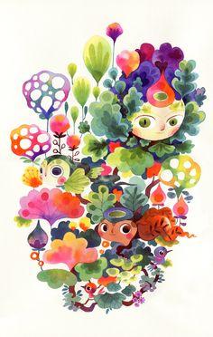 Lorena Alvarez Gómez https://www.behance.net/gallery/27086411/Fantastical-Flora-Fauna-Sprouts