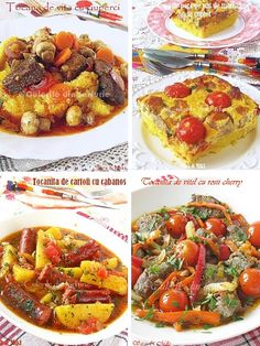 » Retete de tocanitaCulorile din Farfurie Romanian Food, Bruschetta, Vegetable Pizza, Main Dishes, Food And Drink, Meals, Vegetables, Ethnic Recipes, Cookies