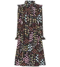 Wool and silk floral-printed dress | Valentino