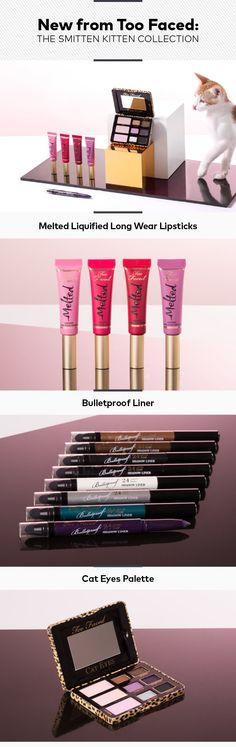 New from Too Faced: The Smitten Kitten Collection | Beautylish  This is the cutest thing ever!