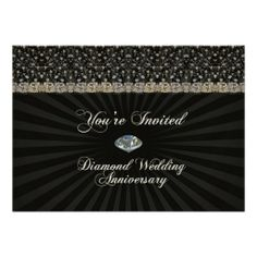 Diamond Wedding Anniversary Invitation Card you will get best price offer lowest prices or diccount couponeThis Deals          	Diamond Wedding Anniversary Invitation Card please follow the link to see fully reviews...