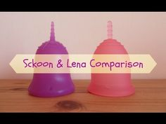 Comparison of the Sckoon size 2 and Lena size L - Menstrual Cups ♥ Complete Size Chart Below: Sckoon Size 1 Menstrual Cup, Period, Alternative, Cups, Moon, Heart, Videos, Life, The Moon