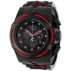 Invicta Men's 'Bolt Reserve' Black Stainless Steel Flame Fushion Watch | Overstock.com Shopping - The Best Deals on Invicta