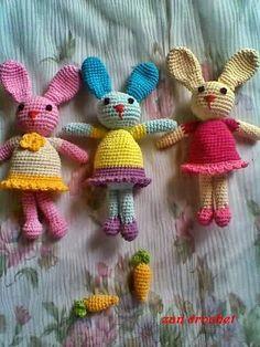 """Zan Crochet: Amigurumi Bunny """"Si Kelinci"""""""