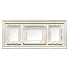 "Multi Photo Frame, 3 Photo/Cream Plastic Vintage Frame, 1 of 5 x 7"" / 2 of 4 x 6"""