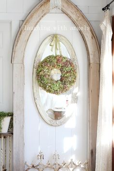 A couple of weeks ago, I decided I had put off redoing my old wreath long  enough and went out to the garden and cut some of the hyd...