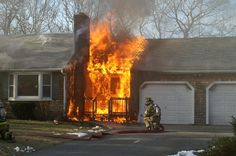 Fire caused by electrical short.