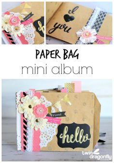 Paper Bag Mini Album! Such a fun gift idea! LOVE this!