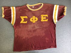 Vtg Fraternity Jersey Shirt 70s 1976 Durene Knute Greek Frat Russell USA Unique! #Russell #Jerseys