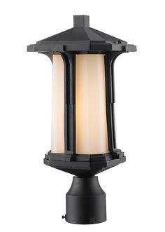 Z-Lite 542PHM-BK 1 Light Outdoor Post Mount Light