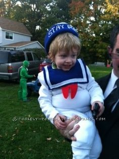 Cutest Stay Puft Marshmallow Boy Costume... Coolest Halloween Costume Contest