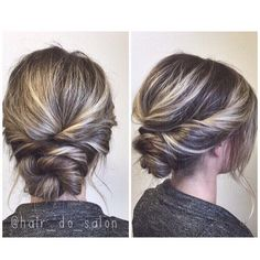 Simple twisted updo, prom or wedding hair