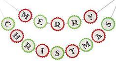 $12 Merry Christmas Banner Kit